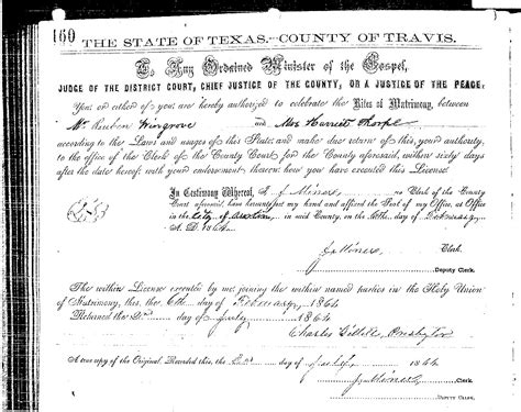 Travis County Marriage Records Marriage Certs William Pleasant Thorp Associated Families
