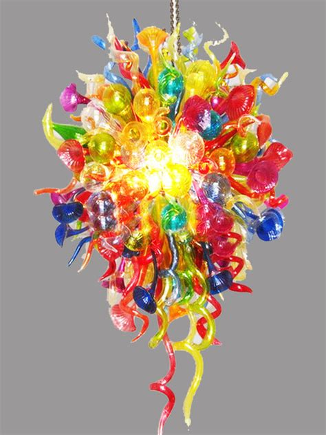 Colourful Chandeliers Modern Handmade Colorful Glass Chandelier Contemporary Chandeliers New York By