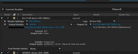 audio file format for after effects basics of rendering and exporting in after effects cc