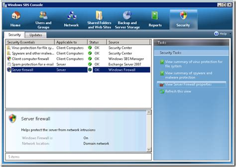 windows sbs console managing your firewalls with sbs 2008 and windows 7 the