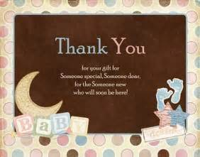 thank you baby shower gifts thank you note for baby