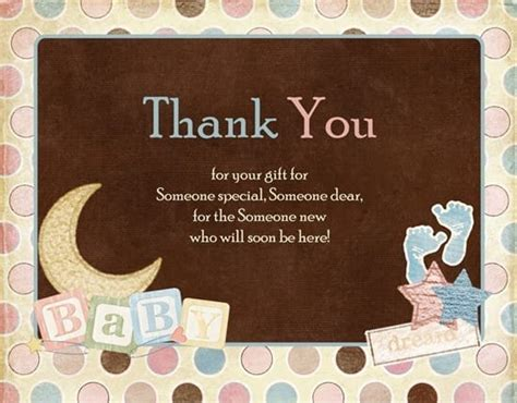 You Gift Card - thank you baby shower gifts thank you note for baby