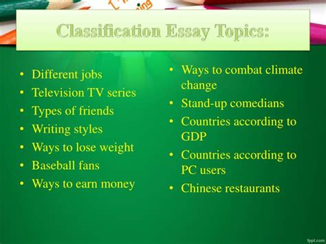 Classification Essay Topics by Ppt Classification Essay Prompts Powerpoint Presentation Id 7283338