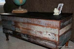 beyond the picket fence pallet storage bench coffee table