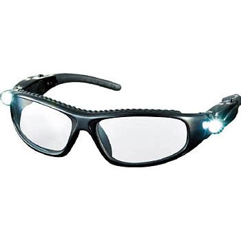 safety glasses with led lights led light safety glasses trusco twin lens type monotaro