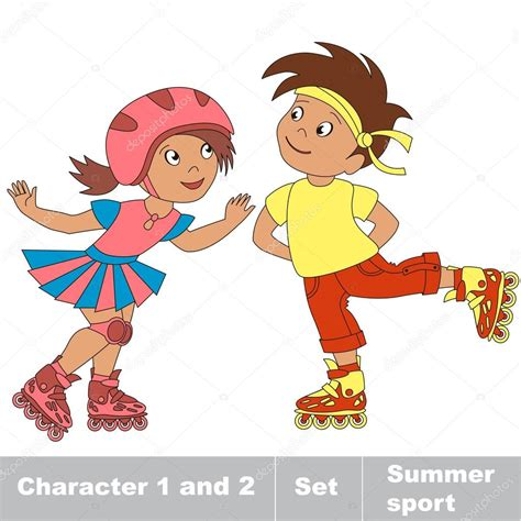 imagenes niños patinando dos j 243 venes beb 233 ni 241 o y ni 241 a patinar en patines archivo