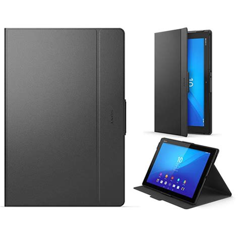 Flip Cover Tablet Advan New Official Sony Xperia Z4 Tablet Flip Folio Style Cover Stand Scr32 Black Ebay