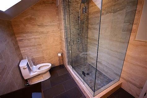 Riverstone shower slate tile floor interior design pinterest