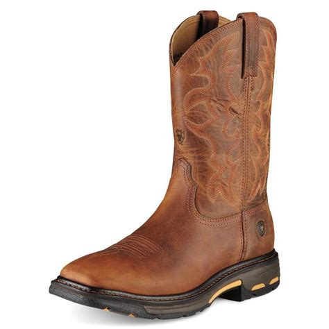 ariat steel toe boots ariat mens workhog square toe steel toe boots