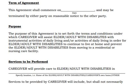 Caregiver Agreement Rejected By New Jersey Medicaid Elder Care Agreement Template