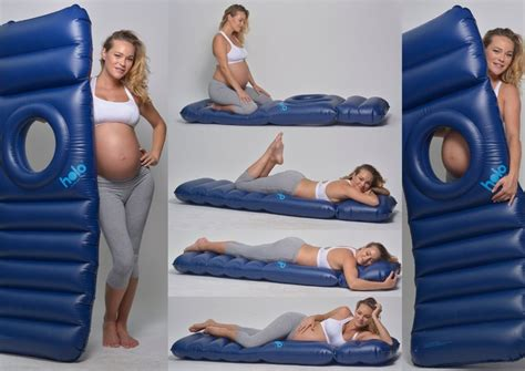 how to have comfortable while pregnant this inflatable maternity pillow raft bed will totally