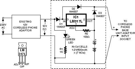 panasonic cordless phone circuit diagram circuit and