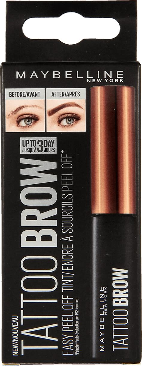 tattoo brow maybelline coles maybelline tattoo brow tusz do brwi medium 5 g nr kat