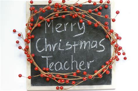 merry christmas teacher stock image image  teacher