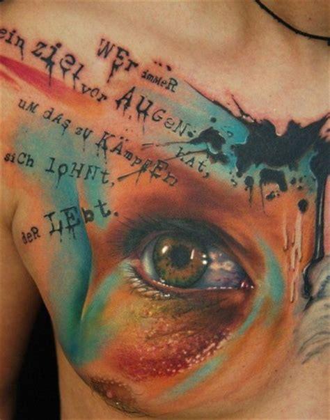 tattoo chest eyes lovely eye trash polka tattoo on chest tattooimages biz