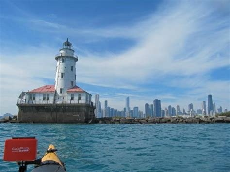 city of chicago light locations chicago light and city skyline while kayak on lake