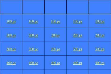 blank jeopardy template 6 blank jeopardy template free