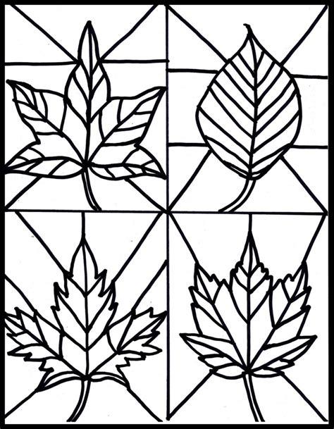 Fensterbilder F 252 R Den Herbst Basteln 25 Ideen Und Vorlagen Tree Stained Glass Coloring Page