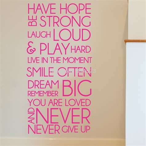 Free Home Decor Ideas by Have Hope Be Strong Motivational Wall Art Sticker Decal