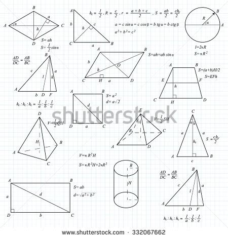 geometric pattern equation mathematical vector formulary for school university and