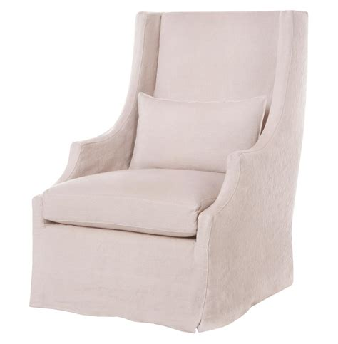 wing armchair covers amalia pale pink slip cover coastal style wing arm chair kathy kuo home