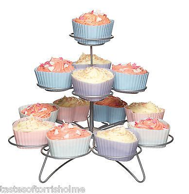 Snack Cup Cake Stand Rack Organizer Rak Penghias Tatakan Kue Makanan kitchen craft wire cup cake cupcake or muffin wire tree 3 4 or 5 tier stand