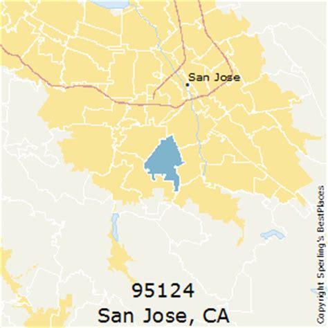 san jose map of zip codes best places to live in san jose zip 95124 california