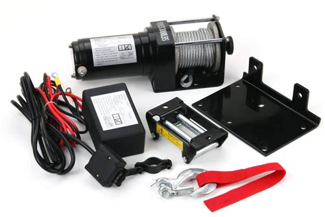3500 lb electric winch 12v volt with remote control quad - Boat Winch With Remote Control