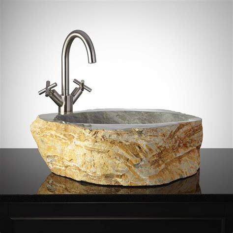 stone vessel bathroom sinks amaranth natural stone vessel sink