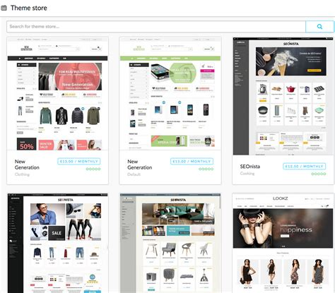 Choosing A Theme From The Theme Store Lightspeed Ecommerce Lightspeed Ecommerce Templates