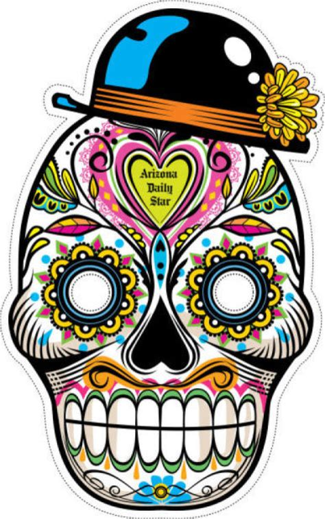 printable masks for day of the dead best photos of day of the dead printable masks day of