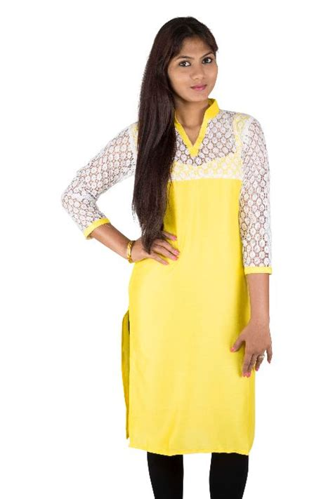 net kurti pattern images hot deal yellow net kurti online offer on yaari yellow