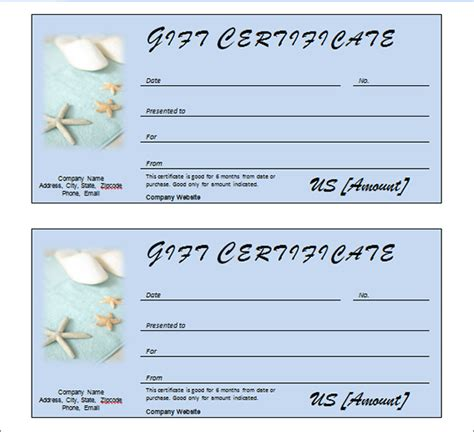 spa day gift certificate template preview of spa day gift certificate template models