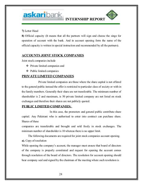 Askari Bank Letterhead Report On Askari Bank By Linky City