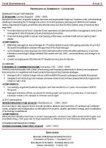 sample resume management best resume example