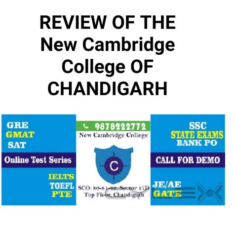 Cambridge Distance Learning Mba by Review Of The New Cambridge College Of Chandigarh
