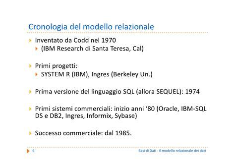 dati cdl basi di dati c1 il modello relazionale dei dati