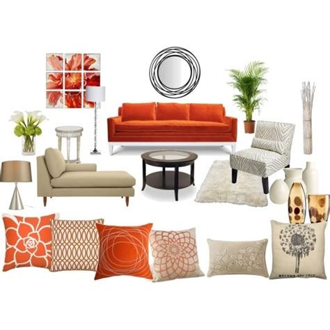 Orange Living Room Sets Orange And Living Room Created By Sheryl Dawson