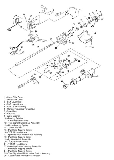 chevy truck steering column diagram 94 gmc 1500 4x4 wiring diagram get free image