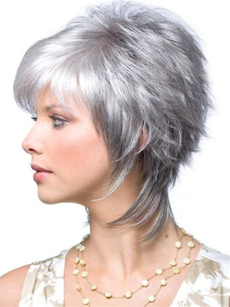 glamorous styles for medium grey hair millie by noriko short shag style wigs com the wig