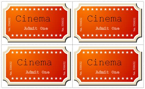 21 movie ticket templates free premium templates