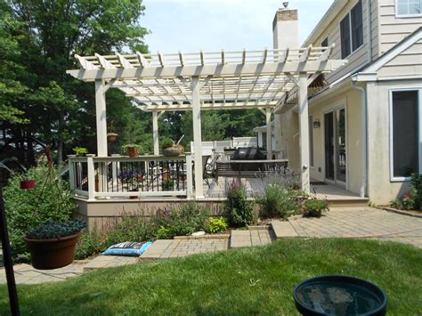 deck with pergolas deck pergolas in lancaster chester