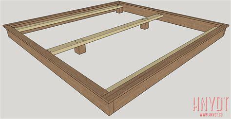 diy king size bed frame plans platform diy platform bed plans diywithrick