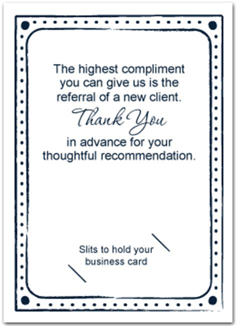 Thank You For Your Referral Dental Cards