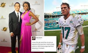 miko grimes criticizes brent grimes miami dolphins teammate ryan tannehill daily mail