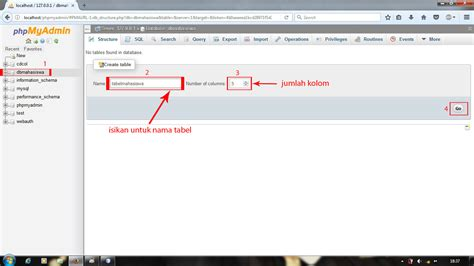 tutorial membuat database mysql xp cara membuat database mysql di xampp