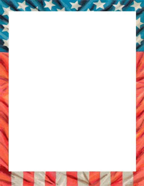 printable flag stationery 7 best images of flag border paper free printable
