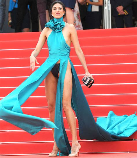 cannes 2017 guest exposes clad bottom as she