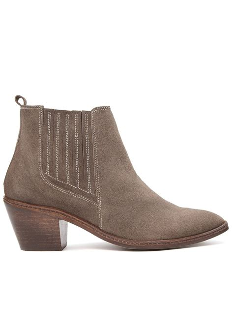 hudson celeste suede ankle boots taupe
