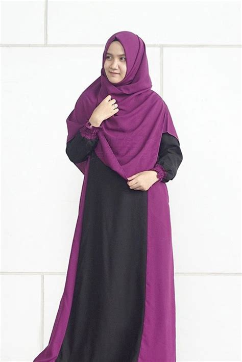 Set Smart Alila Gamis Set Khimar smart purple 1 set alila gamis syar i